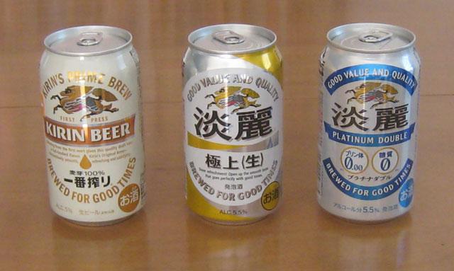 ビール、発泡酒、プリン体糖質ゼロビール