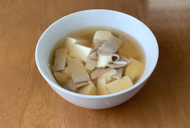 豆腐+ロースハム+めんつゆで甘辛煮