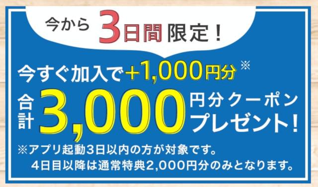 3000円分のクーポン