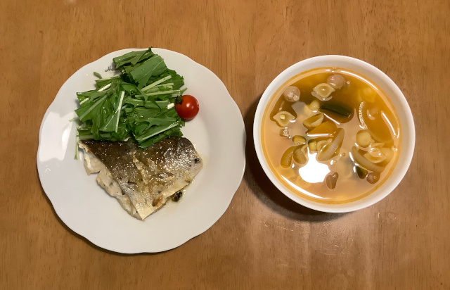 白身魚のイタリア風ソテー+食べるミネストローネ