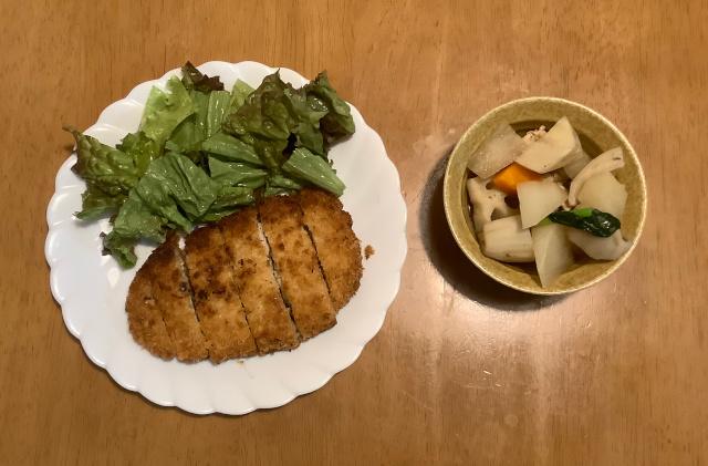 ミルフィーユとんかつ+鶏と根菜の田舎風煮