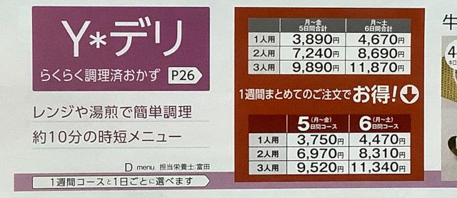 Yデリの料金表